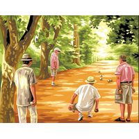 petanque Game tapestry Canvas by Royal Paris
