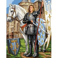 Saint Joan of Arc Tapestry Canvas By Royal Paris