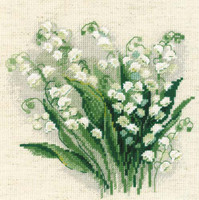 Lily of the Valley Cross Stitch Kit by Riolis