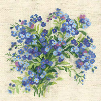 Forget Me Nots Cross Stitch Kit by Riolis
