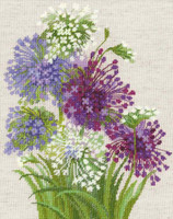 Allium Cross Stitch Kit by Riolis
