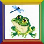 Little Frog Cross Stitch Kit by Happy Bee