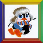 Penguin Cross Stitch Kit by Happy Bee