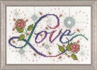 Love Cross Stitch kit by Design Works