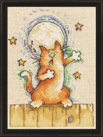Singing Cat Cross Stitch Kit by Design Works