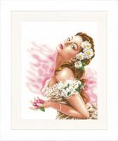 Lady of the Camellias Cross Stitch Kit by Lanarte