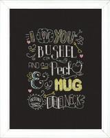Hug Chalkboard Cross Stitch Kit by Design Works