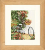 Bicycle Cross Stitch Kit by Lanarte