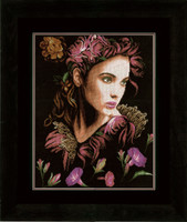 In Thoughts Cross Stitch Kit by Lanarte