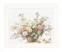 Basket of Roses Cross Stitch Kit by Lanarte