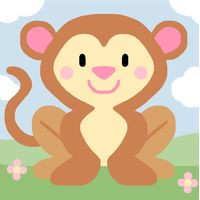 Monkey Tapestry Starter Canvas By Royal Paris