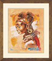 African Women Cross stitch Kit by Lanarte