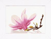 Twig with flowers Cross Stitch Kit by Lanarte