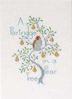 Partridge in a  pear tree Cross stitch Kit by Derwentwater
