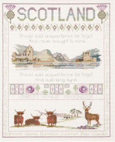 Scotland Sampler Cross Stitch Kit by Derwentwater