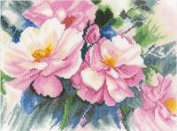 Beautiful Roses Cross Stitch kit By Lanarte
