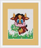 Cow II Mini Cross Stitch Kit by Luca S
