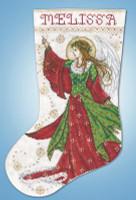 Angel of Joy Stocking Cross stitch Kit by Design Works