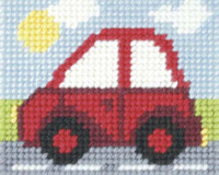 Little Red Car Needlepoint Kit by Orchidea