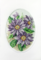 Dahlias Cross Stitch Card Kit by Orchidea