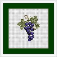 Mini Grapes Cross stitch Kit by Luca S