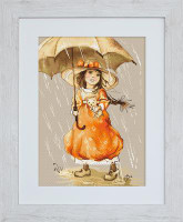 Umbrella Cross Stitch Kit by Luca-S