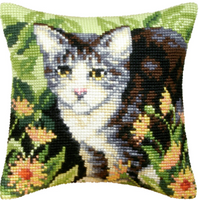 Cat Chunky Cross Stitch Kit by Orchidea