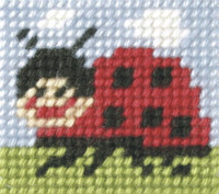 My First Embroidery Mini Needlepoint Kit Ladybug By Orchidea