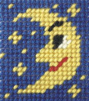 My First Embroidery Mini Needlepoint Kit man on the Moon By Orchidea