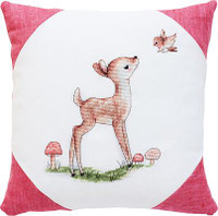 Deer and Bird Cross Stitch Cushion Kit by Luca-s