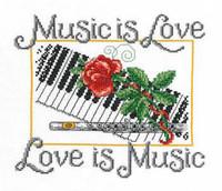 Music is love Cross Stitch Chart by Ursula Michael