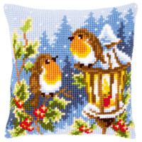 Two Robins Chunky Cross Stitch Kit By Vervaco