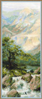 Mountain Stream Cross Stitch Kit by Riolis
