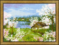 Apple Blossoms Cross Stitch Kit by Riolis