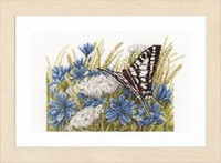 Counted Cross Stitch Kit: Swallowtail (Evenweave) by Lanarte