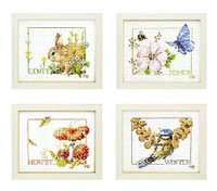 Counted Cross Stitch Kit: Four Seasons By Lanarte