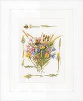 Counted Cross Stitch Kit: Field Bouquet (Aida) By Lanarte