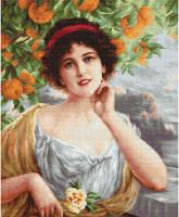 Beauty Under the Orange Tree Cross Stitch Kit by Luca-s