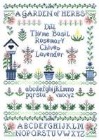 Garden of Herbs - cross stitch pattern by Linda Bird