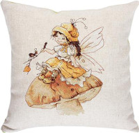 Toadstool Fairy Pillow Cross Stitch Kit by Luca-S