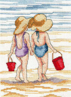 All Our Yesterdays - Red Buckets Cross Stitch Kit By Faye Whittaker