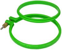 """Green Plastic 4"""" hoop"""