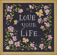 Love Your Life Cross Stitch Kit by Design Works