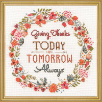 Giving Thanks Cross Stitch Kit by Design Works