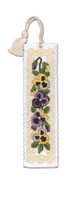 Victorian Pansies Bookmark Cross Stitch Kit by Textile Heritage