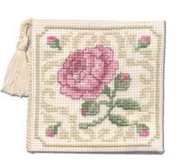 Damask Rose Needle Case Cross Stitch Kit by Textile Heritage