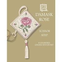 Damask Rose Scissor Keep Cross Stitch Kit by Textile Heritage
