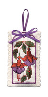 Fuchsias Sachet Cross Stitch Kit by Textile Heritage