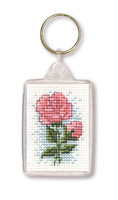 Roses Keyring Cross Stitch Kit by Textile Heritage