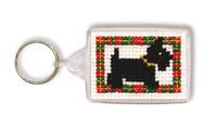 Scottie Dog Keyring Cross Stitch Kit by Textile Heritage